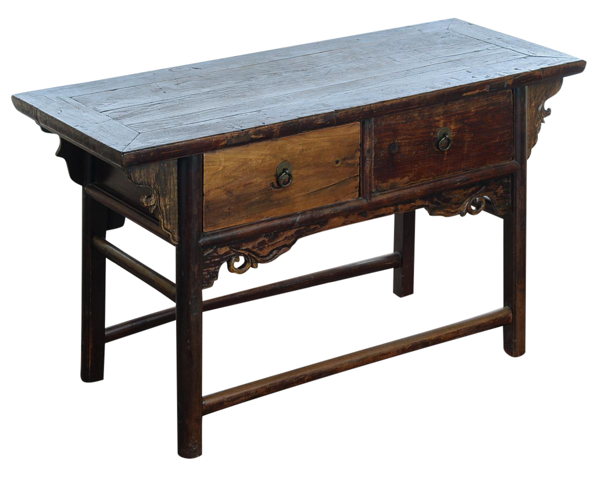 Chinese Antique Wooden Altar Table With DrawersChinese Antique Wooden Altar  Table With Drawers   Image 1