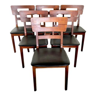 Mid-Century Modern Bissman Walnut Dining Chairs - Set of 6 For Sale