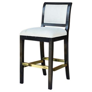 Brass & Wenge Bar-Stool For Sale