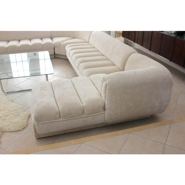 Contemporary Vladimir Kagan Attributed Directional Sectional Sofa For Sale - Image 3 of 13