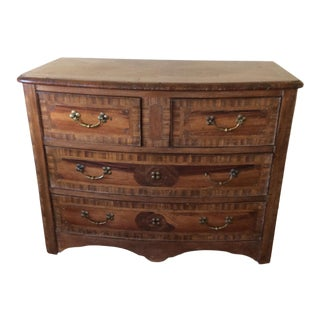 1970s Tuscan Walnut Chest of Drawers For Sale