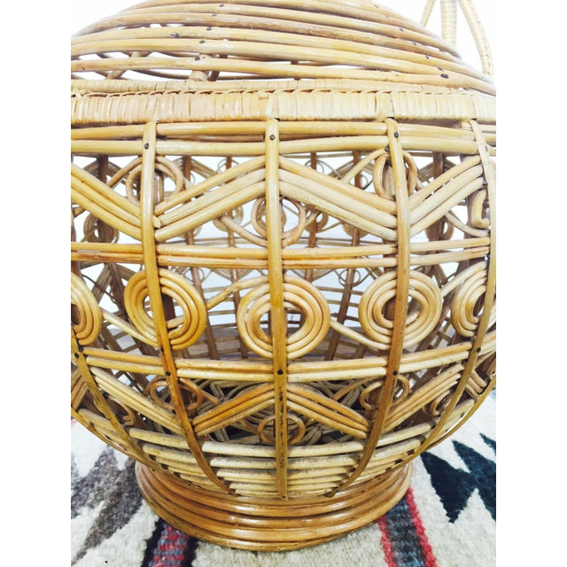 Vintage Large Rattan Basket - Image 7 of 7