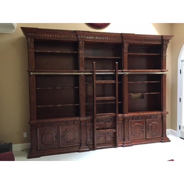 We have a two story open family room. This wall unit was perfect to hold books and art work. It is a very flexible piece...