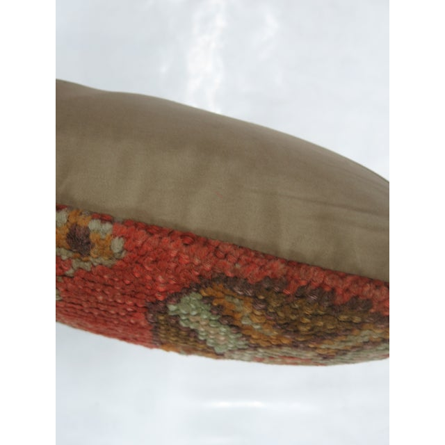 Antique Oushak Rug Pillow - Image 3 of 3