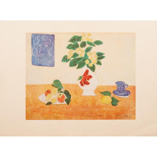 "Tangerine 1947 Henri Matisse, Original Period Lithograph ""Flowering Ivy"" For Sale - Image 8 of 8"