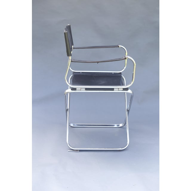 Arrben Italian Leather & Chrome Chairs - A Pair - Image 6 of 10