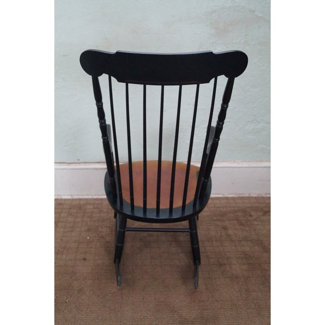 Hitchcock Black Painted Stenciled Rocking Chair - Image 4 of 10