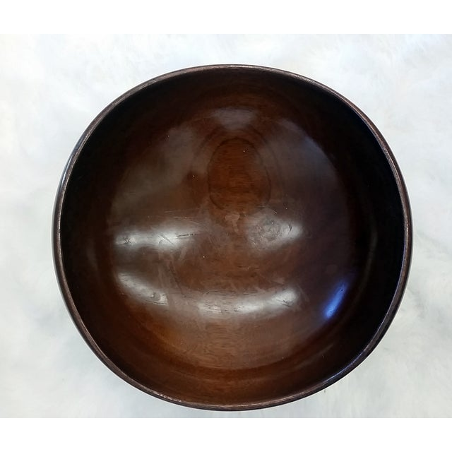 Biomorphic Georg Jensen Sterling Wooden Table Bowl - Image 8 of 8