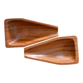 1960s Vintage Jean Gillon Brazilian Rosewood Double Pipe Rack For Sale