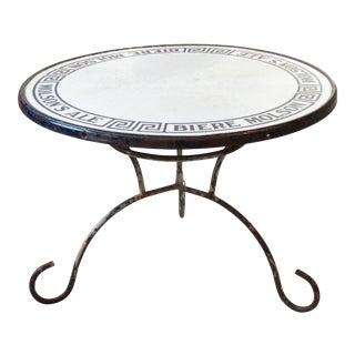 Molson Enamel Top Table For Sale