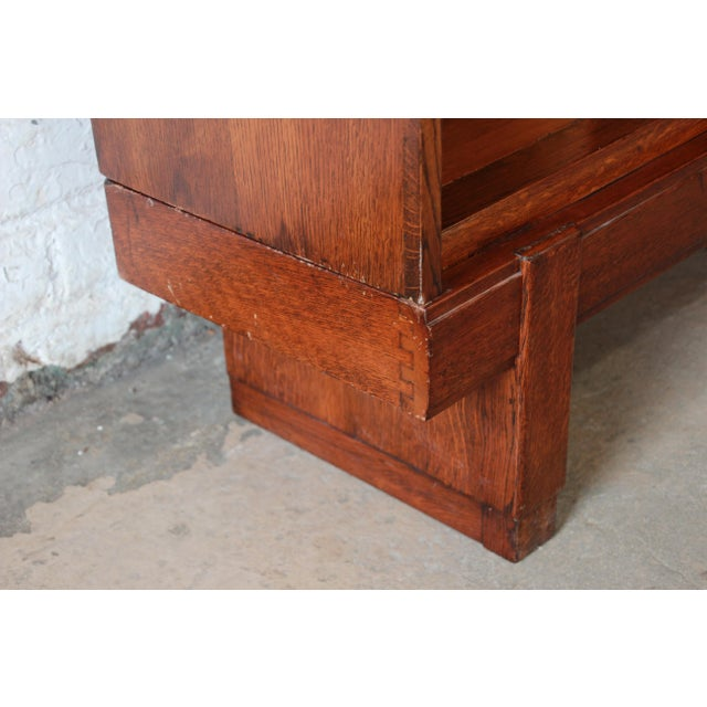 Mid-Century Oak Barrister Bookcase For Sale - Image 11 of 12