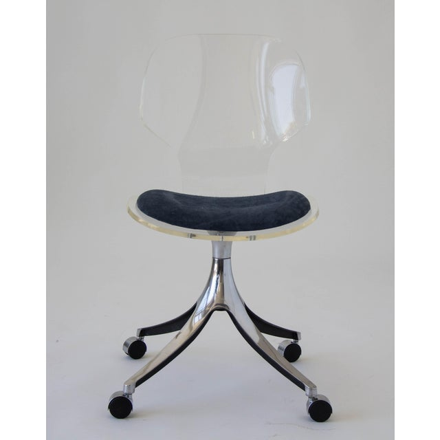 Hill Manufacturing Co. Lucite Rolling Desk Chair - Image 2 of 9