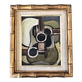 """Image of Contemporary Original Stephen Heigh Modernist Abstract Painting """"3 Guitars"""" For Sale"""
