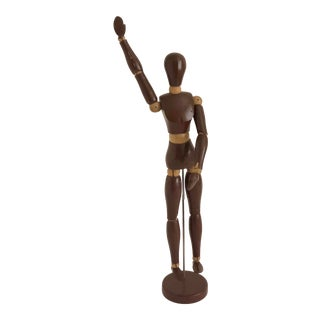Midcentury Brown Artist's Mannequin For Sale