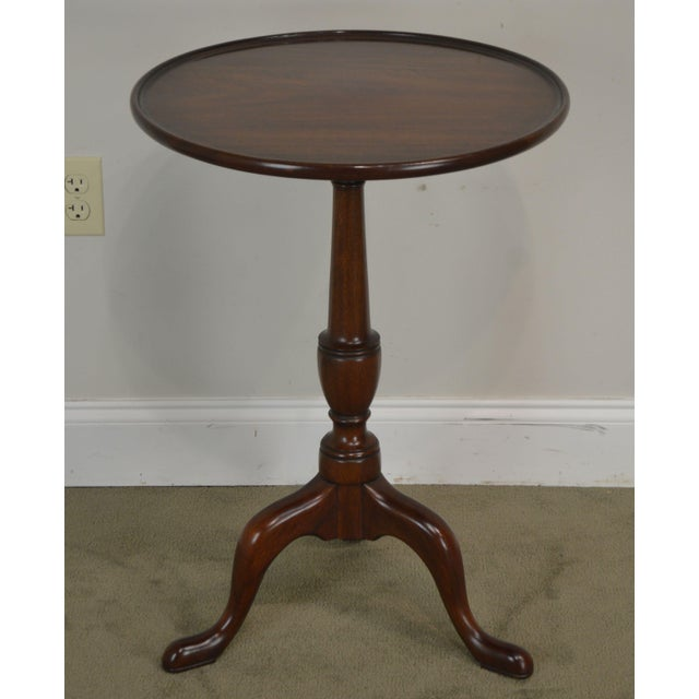 High Quality American Made Solid Mahogany Side Table in # 29 Finish