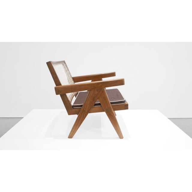 Mid-Century Modern 1955 Pierre Jeanneret Model Pj-Si-29-A Low Lounge Chair For Sale - Image 3 of 8