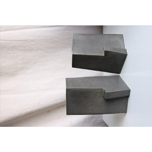 Architectural Ceramic Vases - A Pair - Image 3 of 10