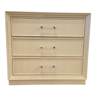 Hickory White Wood Modern Three Drawer Chest For Sale