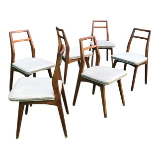 Vintage Danish Modern Teak Dining Chairs - Set of 6