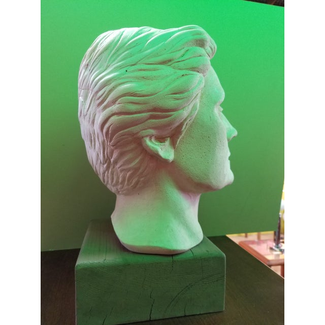 Life-Size Terracotta Bust by Herman Roderick Volz For Sale - Image 4 of 11