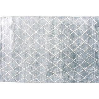 Stark Studio Rugs Contemporary Millbury Stone 80% Bamboo Silk/20% Wool Rug - 8′ × 10′ For Sale