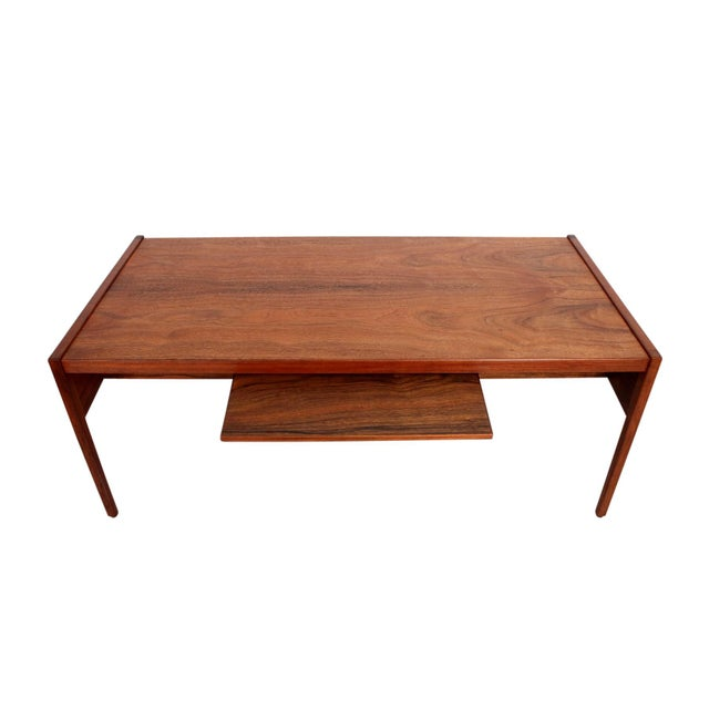 Walnut Rare Architect's Desk by Jens Risom For Sale - Image 7 of 13