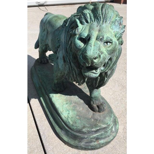 Paul-Edouard Delabrierre Bronze Lions - a Pair For Sale - Image 10 of 13
