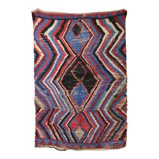 "AZILAL Vintage Moroccan Rug, 3'10"" x 5'7"" feet"
