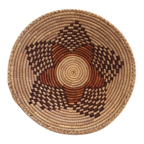 Vintage Native American Style Coil Basket - Image 1 of 8