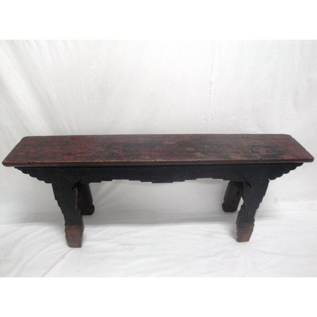 19th Century Painted Bench For Sale - Image 5 of 6