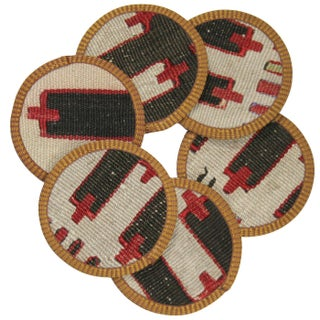 Rug & Relic Züheyr Kilim Coasters - Set of 6 For Sale