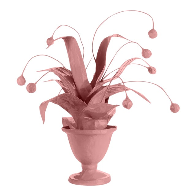 Stray Dog Designs for Chairish Crunchberry Faux Plant, Pink For Sale