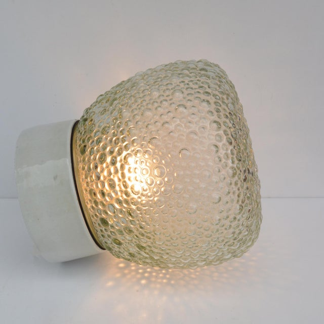1970s Large Glass Outdoor Wall Lamp, Germany For Sale - Image 12 of 13