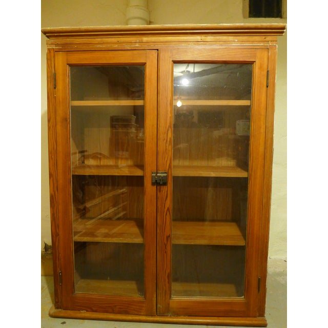 Original upper kitchen cabinet from our house built in 1901! This cabinet is designed to fit into a right-hand corner,...