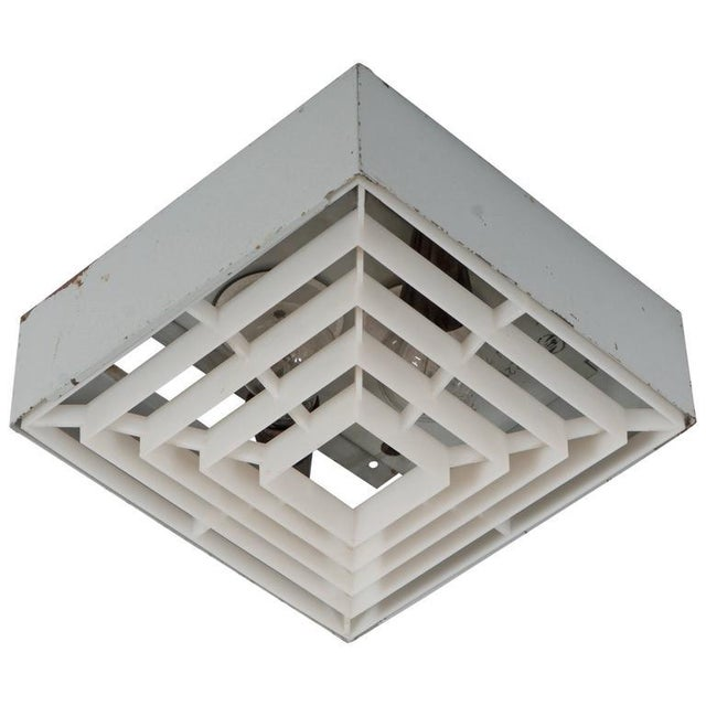 Square factory ceiling lamp For Sale - Image 6 of 6