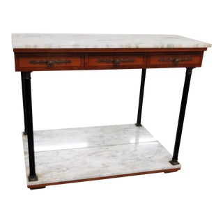 Bethlehem Furniture Marble Top Pier Table For Sale