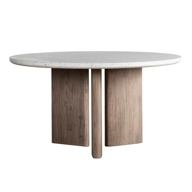 Modern Terrazzo Round Dining Table For Sale - Image 4 of 4
