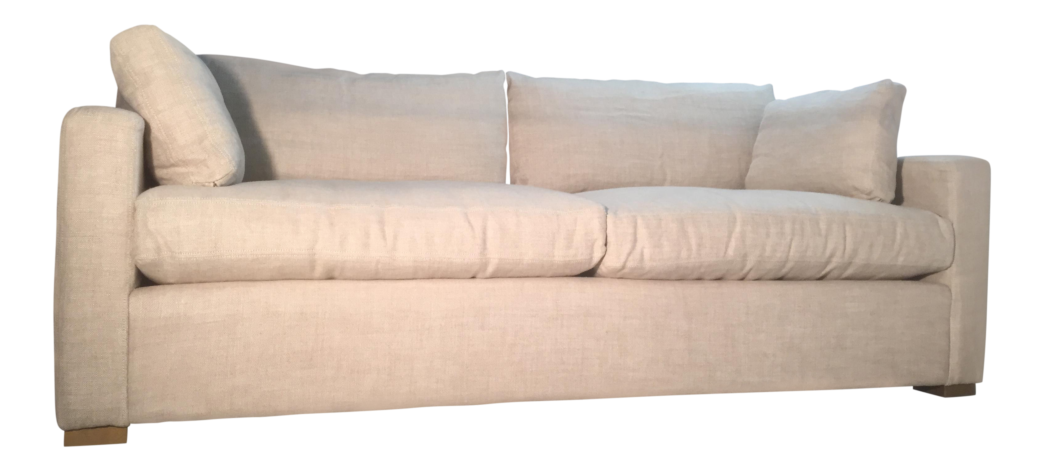 Great Restoration Hardware Belgian Track Arm Upholstered Down Sofa   Image 1 Of 12