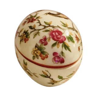 1970s French Limoges Large Egg Box For Sale