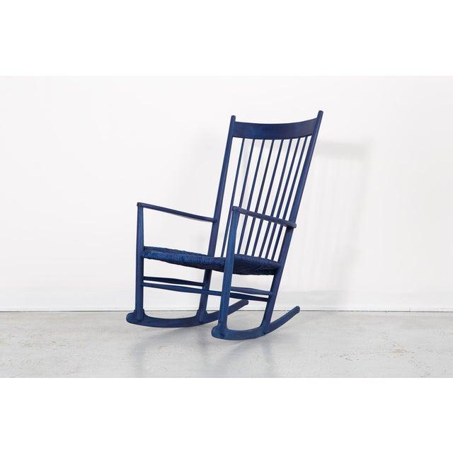 Hans Wegner Royal Blue Rocker For Sale - Image 12 of 12