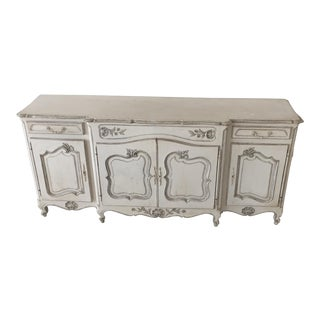 Large French White Painted Cabinet