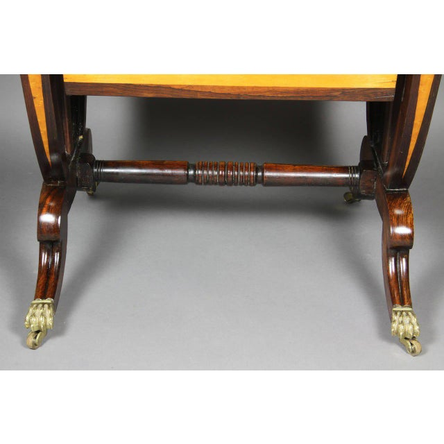 Early 19th Century Unusual Regency Rosewood and Bird's-Eye Maple Music Table For Sale - Image 5 of 9