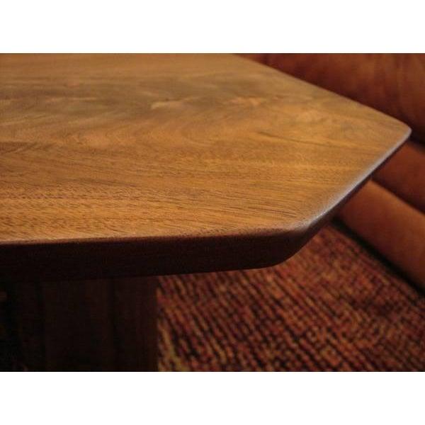 Mid Century Modern Walnut Slab Coffee Table - Image 5 of 7