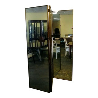 Henredon Furniture Mark D. Sikes Hayworth Parchment Mirrored Panel For Sale
