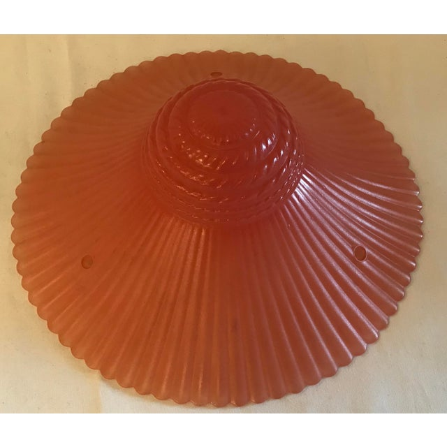 Mid 20th Century Art Deco Pink Light Fixture Cover For Sale - Image 5 of 6