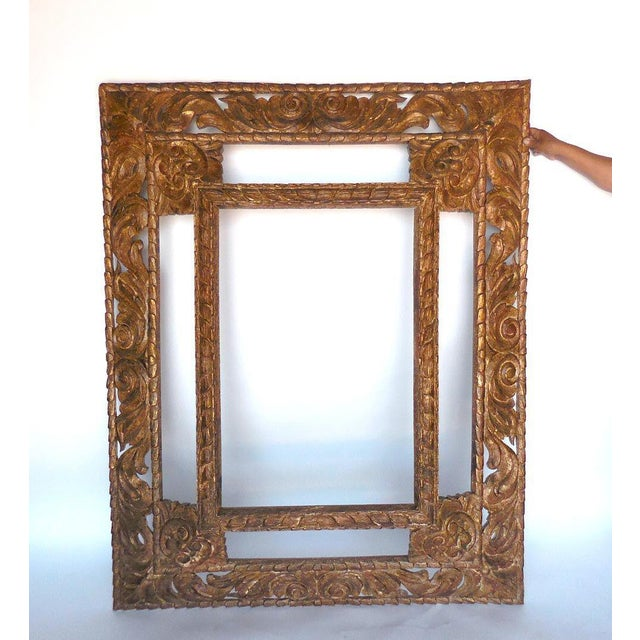 Pair of hand-carved and hand finished large scale mirrors. Five panels. Beautiful and elegant hand-carved hardwood. Lovely...