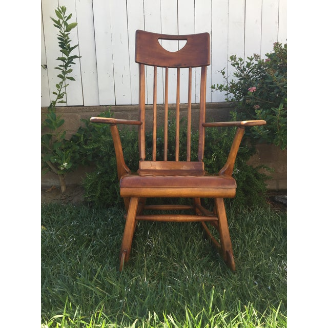 Sikes Arts and Crafts Maple Rocking Chair For Sale - Image 11 of 11