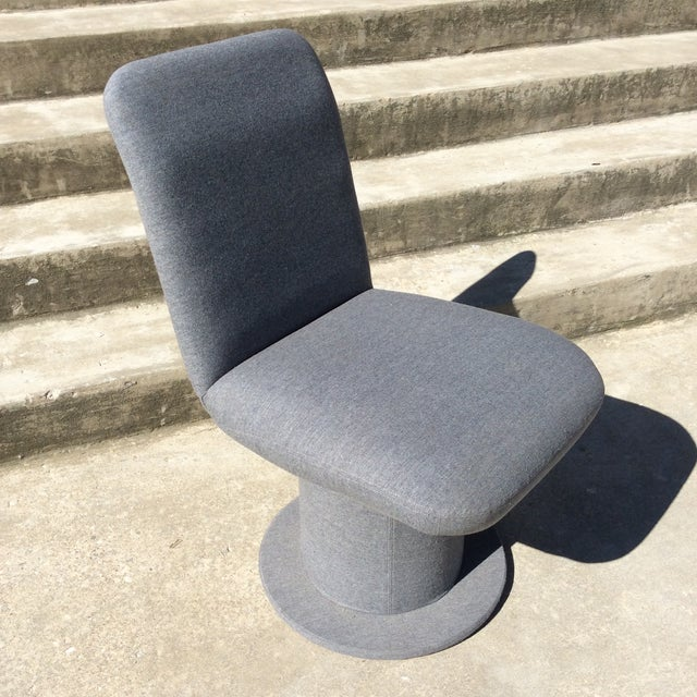 Mid-Century Modern Design Institute or America Swivel Parsons Dining Desk Chair For Sale - Image 3 of 13