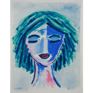 Abstract Fauvist Face Painting by Cleo Plowden For Sale