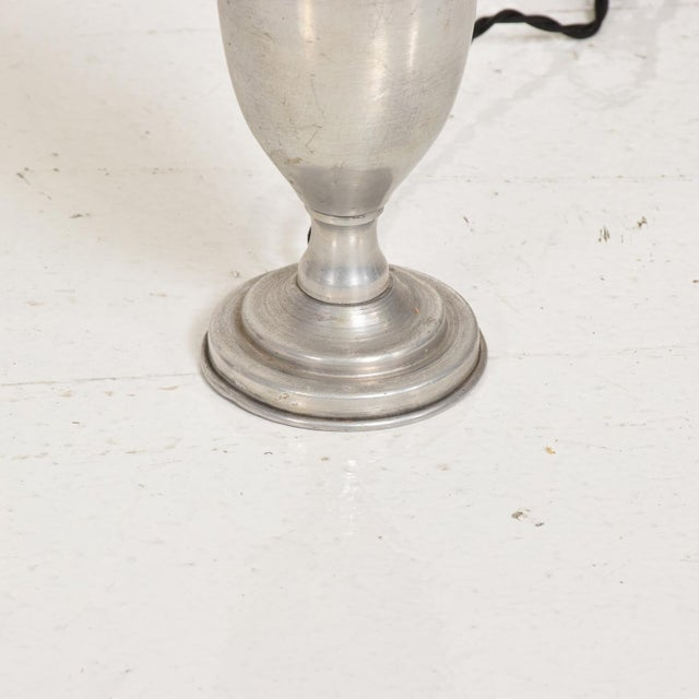 Hollywood Regency Petite Aluminum Table Lamps - a Pair For Sale In San Diego - Image 6 of 7